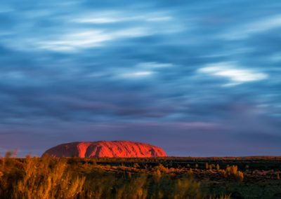Sunset in Uluru